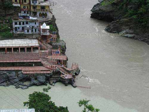 It is Devprayag and left Side is river Bhagirathi coming from Gangotri (Greenish Shade) and the other one is Alaknanda coming from Badrinath.