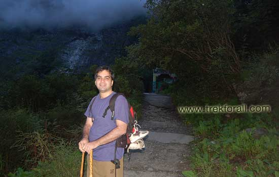 Reached back to the entrygate of the Valley of flowers