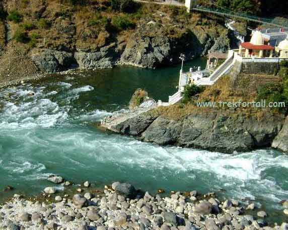 Rudraprayag, confluence of river Alaknanda and Mandakini