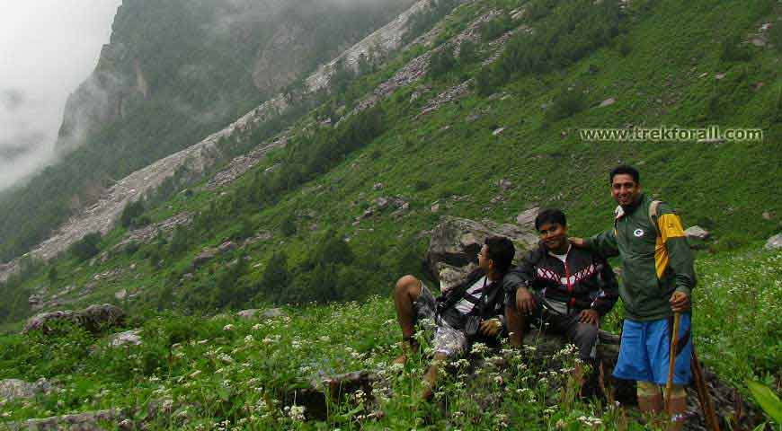 Resting on a small rock in the valley, these guys were from West Bangal