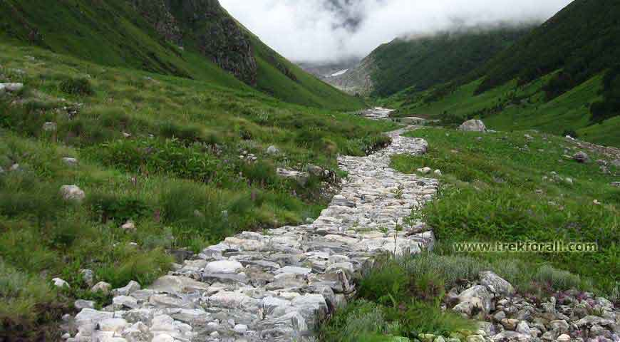 Reaching Pushpawati River bed