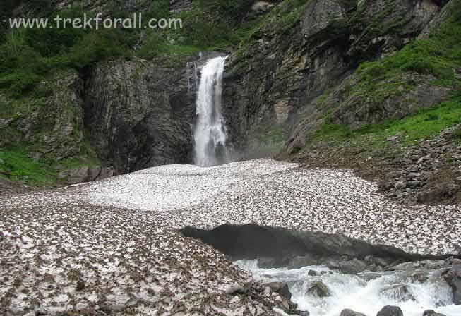 Water fall near Ghangaria