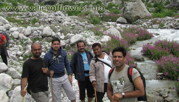 Valley of flowers trekkers group