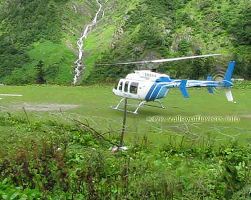 Govindghat to Ghangaria by Helicopter