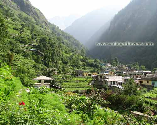 Pulna Village on the way of Govindghat to Ghangaria