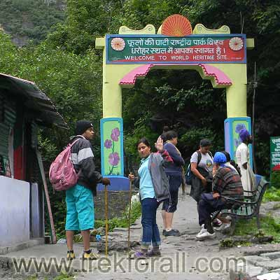 Entry gate of Valley of Flowers