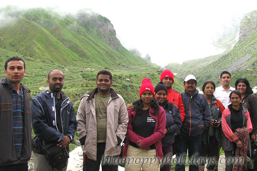 Group which started on 29th July, 2012. With this group we went 11Kms inside the Valley of Flowers
