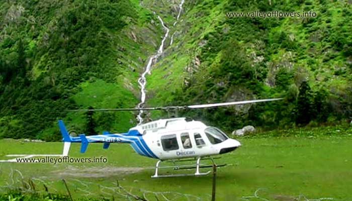 Helicopter service from Govindghat to Ghangaria
