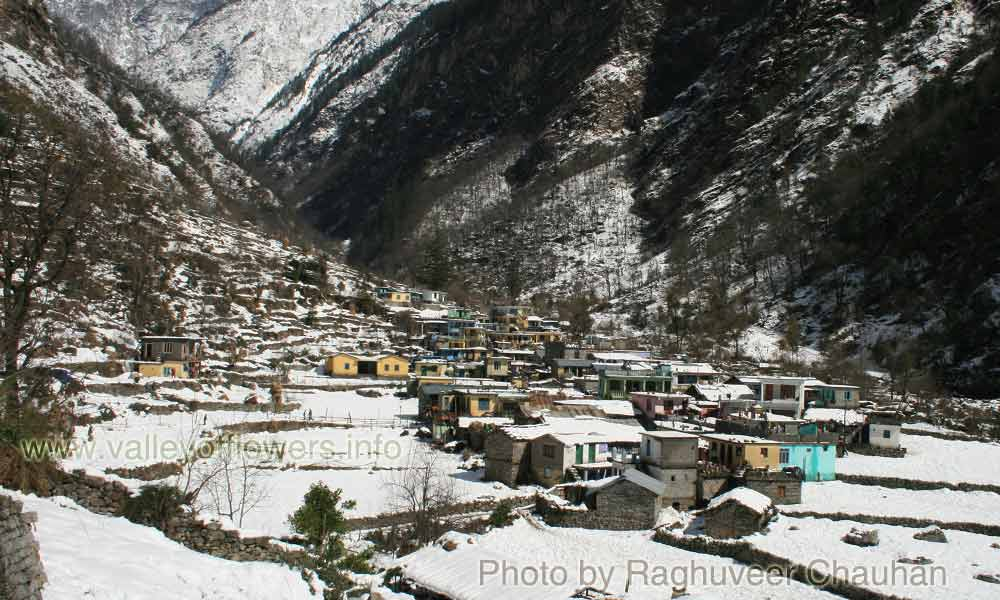 Beautiful view of Village Pulna in winters. Before floods in June, 2013. Once I wrote for this village to be my favorite destination for my future residence. But, unfortunately this village is also swept away in floods.