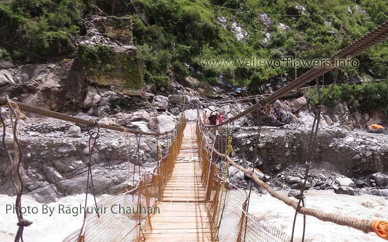 Front view of newly constructed bridge at Govindghat