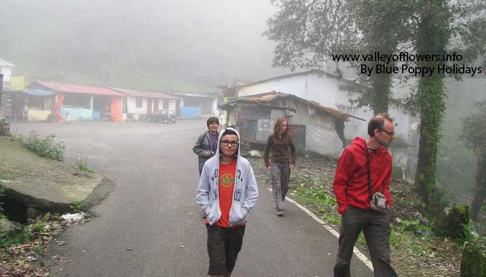 Our group at Chopta. There is no other tourist in the area.