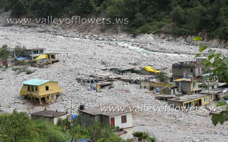 Pulna village after the floods in Uttrakhand
