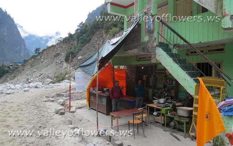Tea Shop at Govindghat.