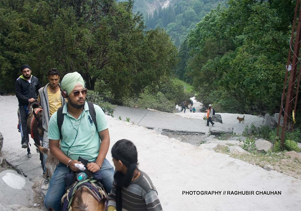 Newly constructed trek between Govindghat and Ghangaria, the pilgrims are coming is good number.