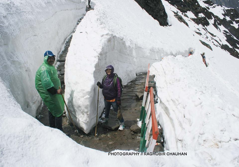 Trek netween Ghangaria to Hemkund Sahib, there are no damage to this part of the trek.