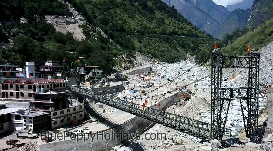 Bridge at Govindgha on Alaknanda Construction completed in early September.