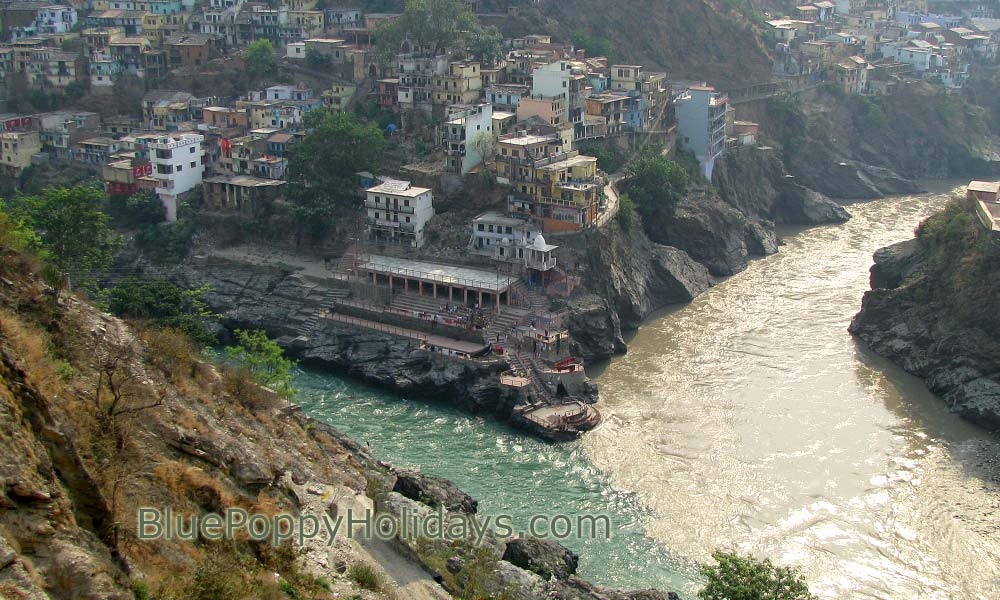 Devprayag the confluence of river Alaknanda and Mandakini