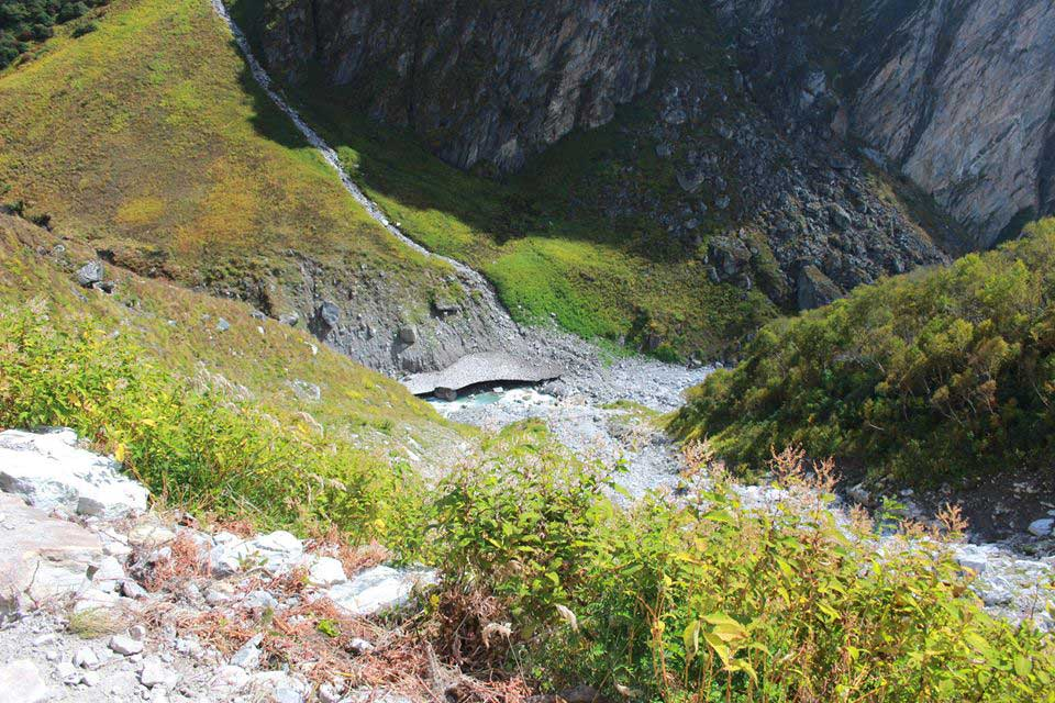 Newly constructed trek to valley of flowers