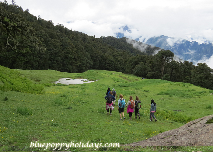 Our group coming back from Gorsan Peak