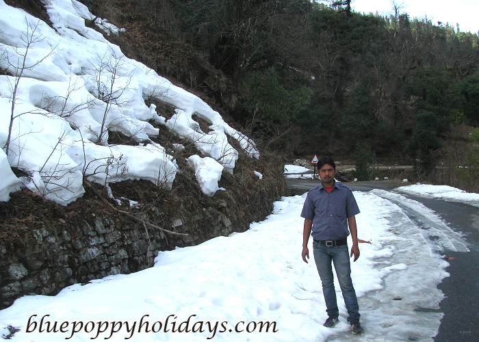 Road going to Chotpa in winters