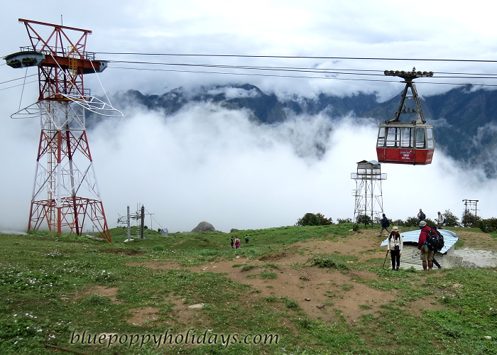 Trolley system in Auli