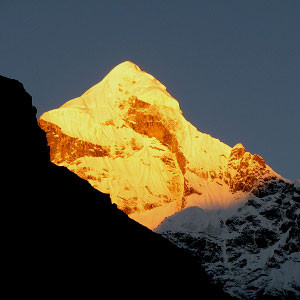 Neelkanth Peak at fire
