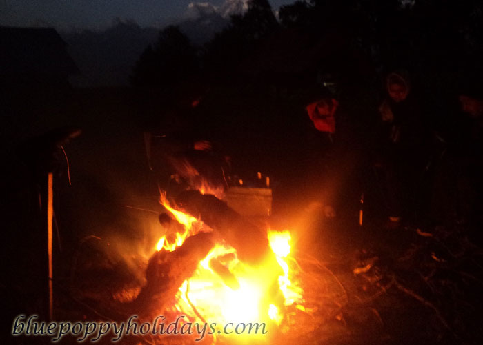 Bonfire at Khullara  Camp Site