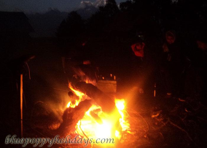 Bonfire at Khullara  Camp Site
