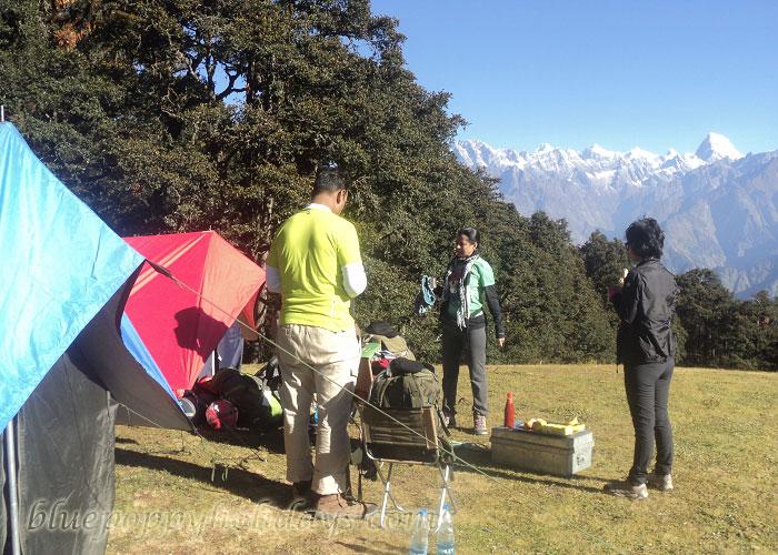 Camping at Gorsan Peak