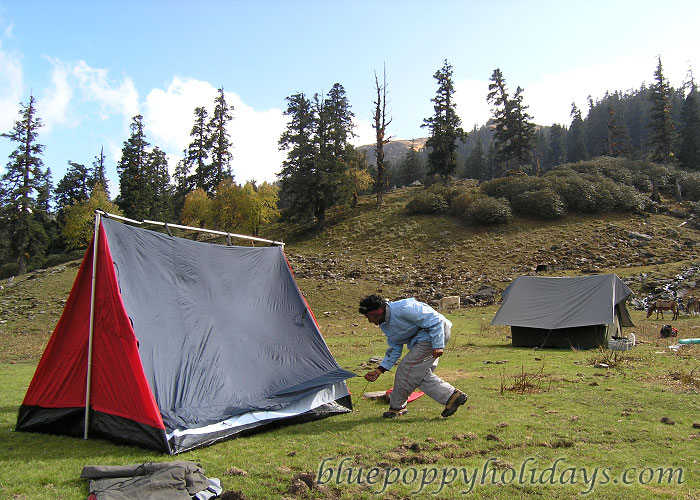 Camping at Khullara Top