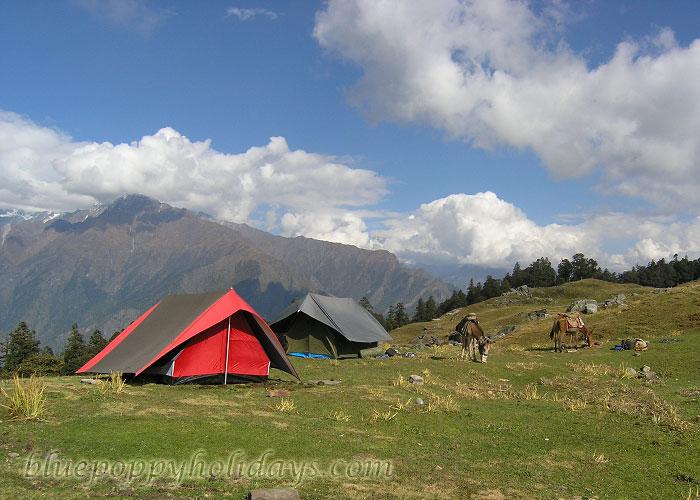 Camps at Gorsan Peak
