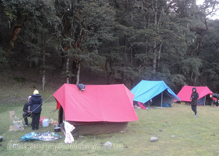 Camps at Gorsan Peak