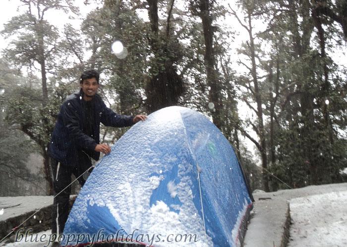 Snow Fall at Tapovan