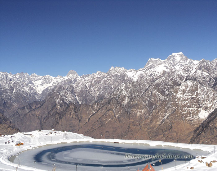 Artificial Lake created by Uttarakhand Government at Auli