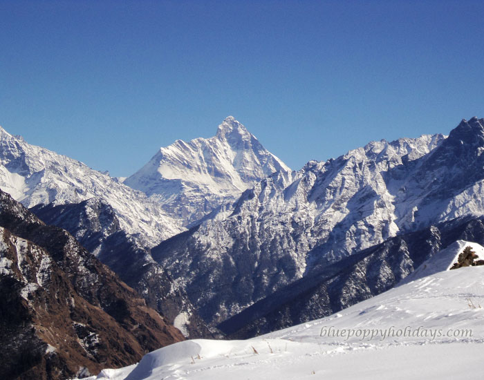 Beautiful View of Snow capped peaks from Auli
