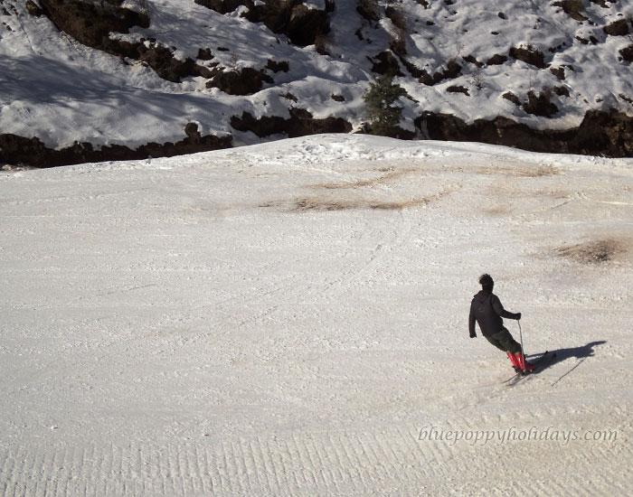 Enjoying Skiing at Auli