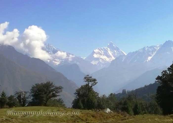 Nanda Devi Peak Visible from Auli