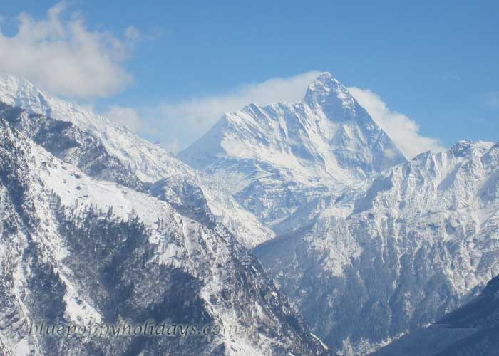 Nanda Devi Peak seen from Auli