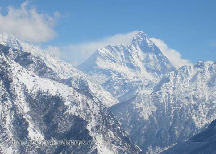 Nanda Devi Peak seen from Auli