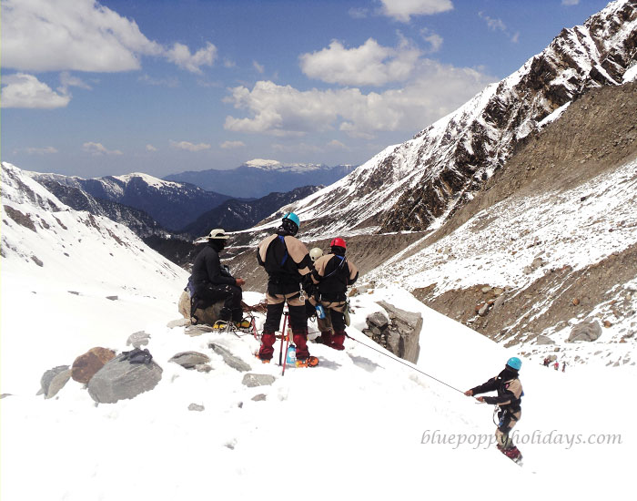 Our Group at Auli in Winter