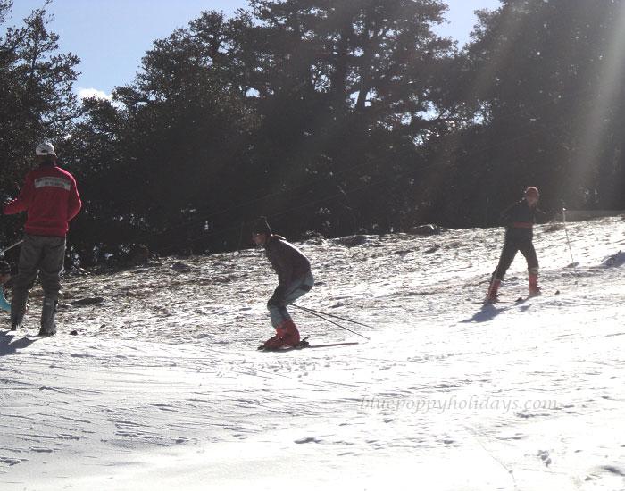 Skiing at Advanced Slopes